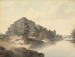 A View of Agra Fort, by a Calcutta artist after William Hodges